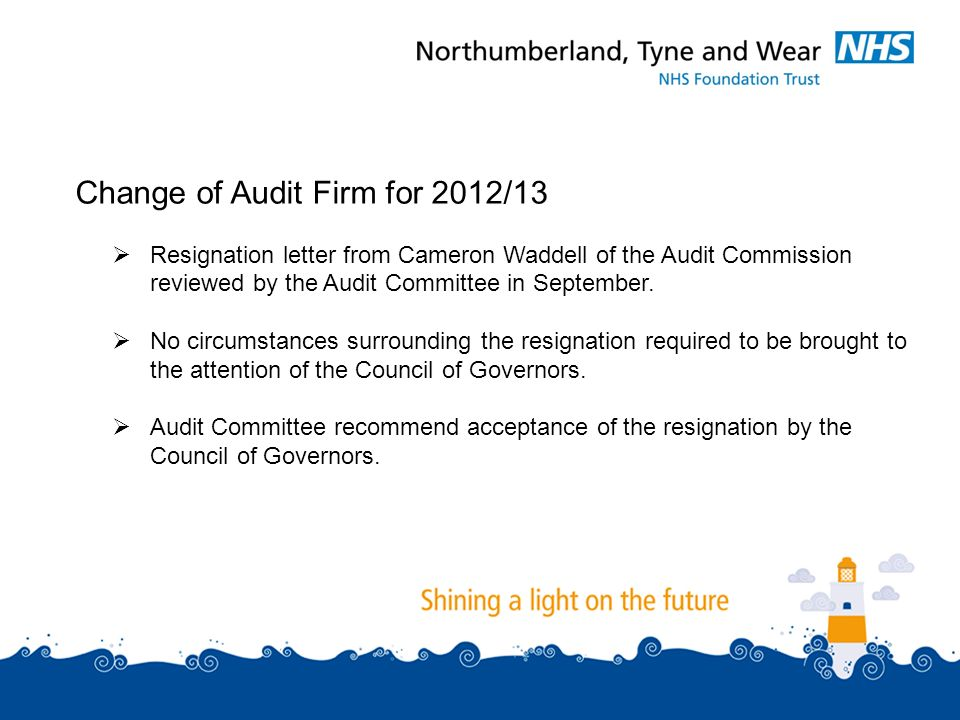 Audit matters three matters to consider annual management change of audit firm for 201213 resignation letter from cameron waddell of the spiritdancerdesigns Images