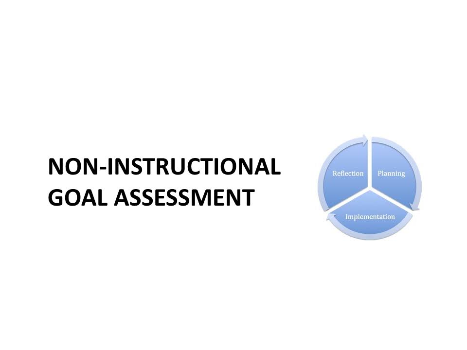 NON-INSTRUCTIONAL GOAL ASSESSMENT