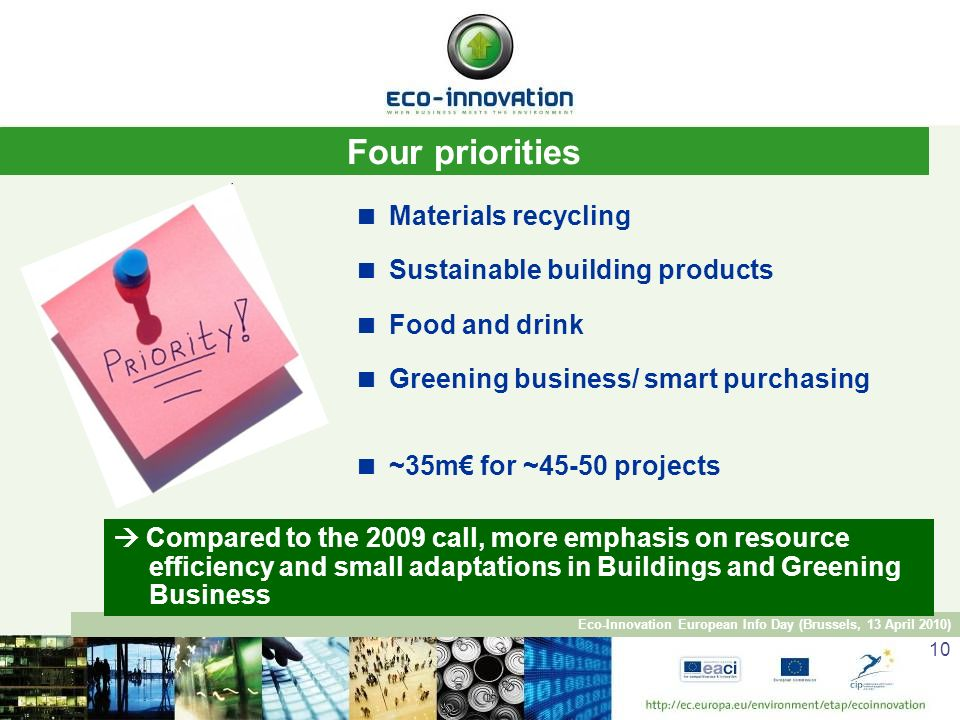Sustainable Building Products eco-innovation, eaci, european commission beatriz yordi, head of
