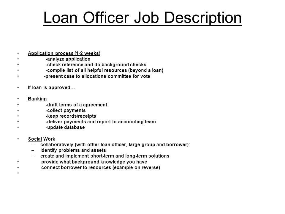 Captivating 2 Loan Officer Job Description ... Good Looking