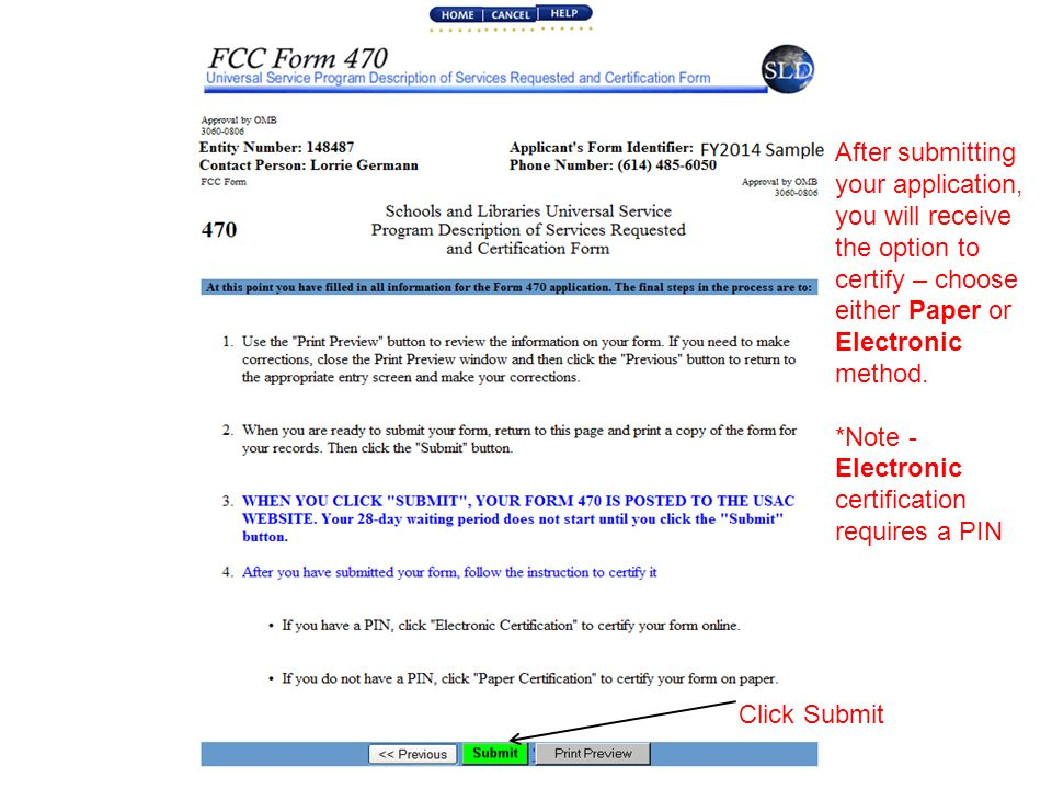 Form 470 Step-by-Step for Libraries E-Rate FY ppt download