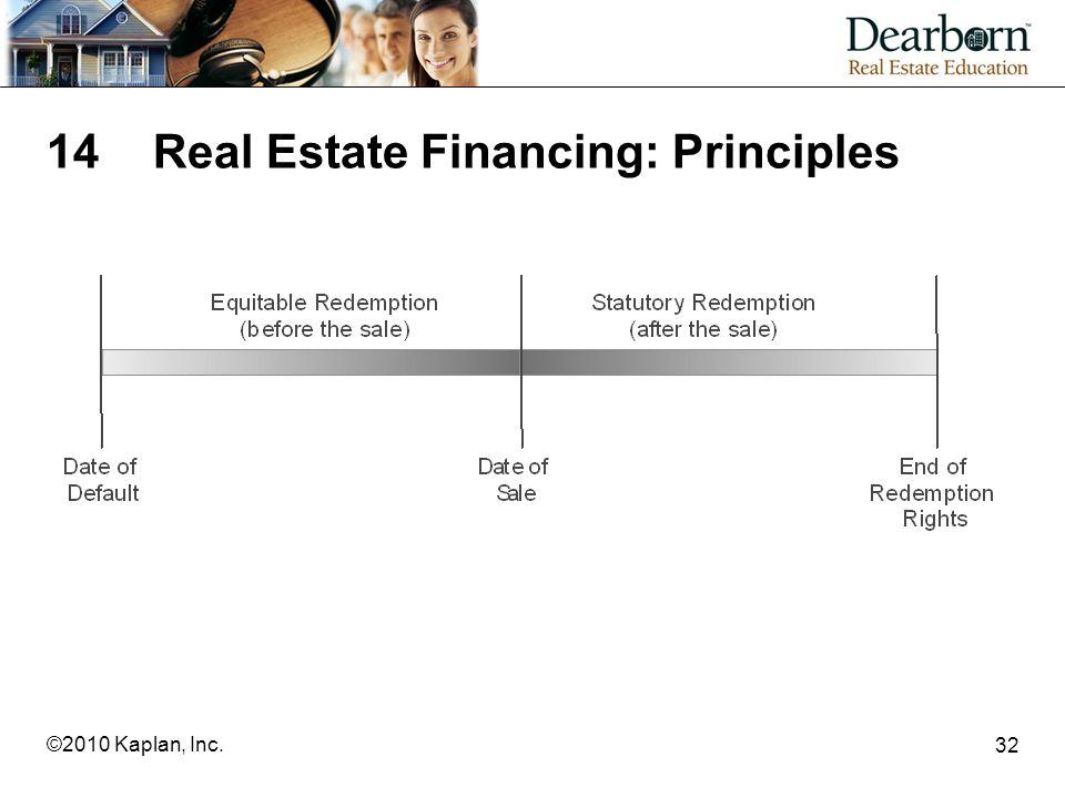 32 ©2010 Kaplan, Inc. 14Real Estate Financing: Principles