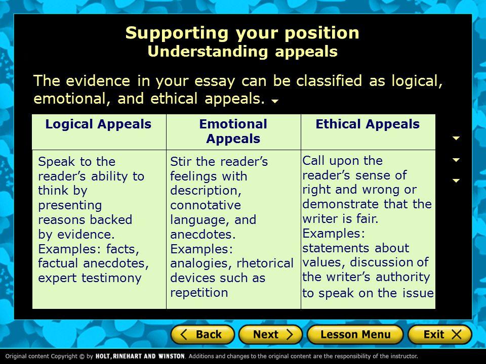 use of logic essay
