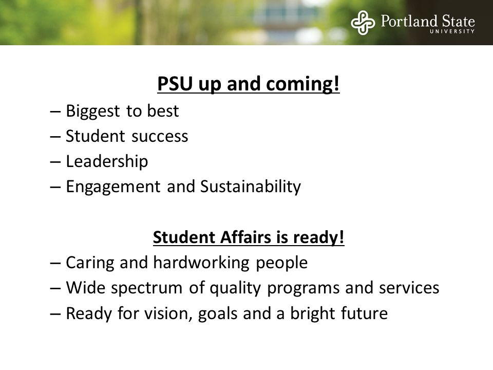 PSU up and coming.