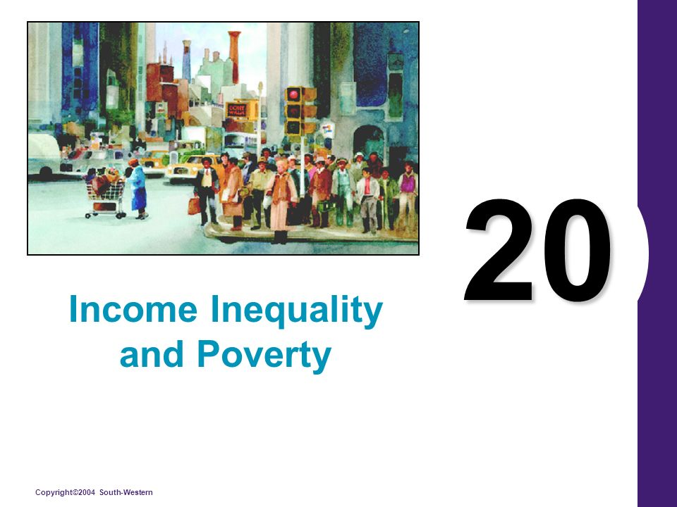 Copyright©2004 South-Western 20 Income Inequality and Poverty