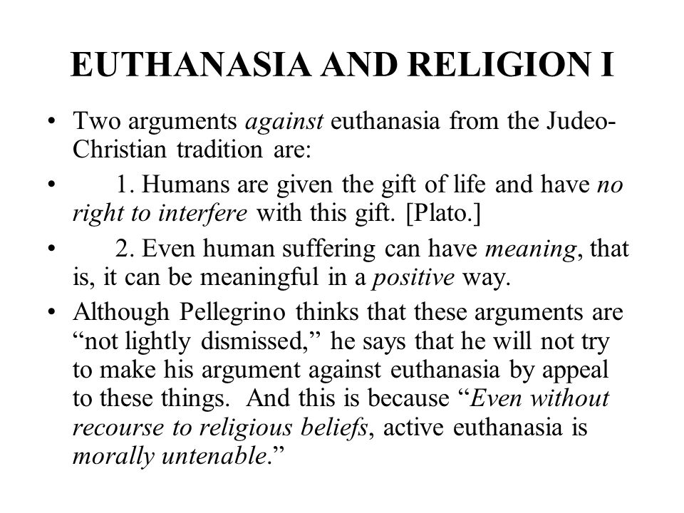 Essay On Euthanasia