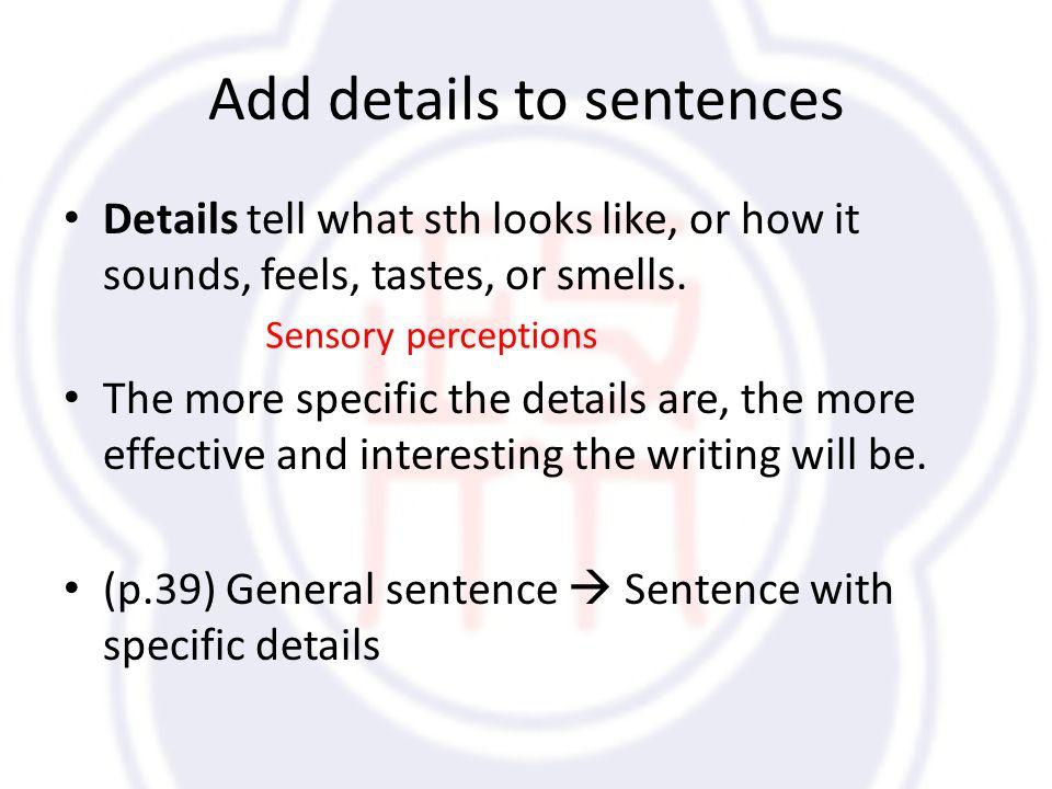 descriptive essay using the senses