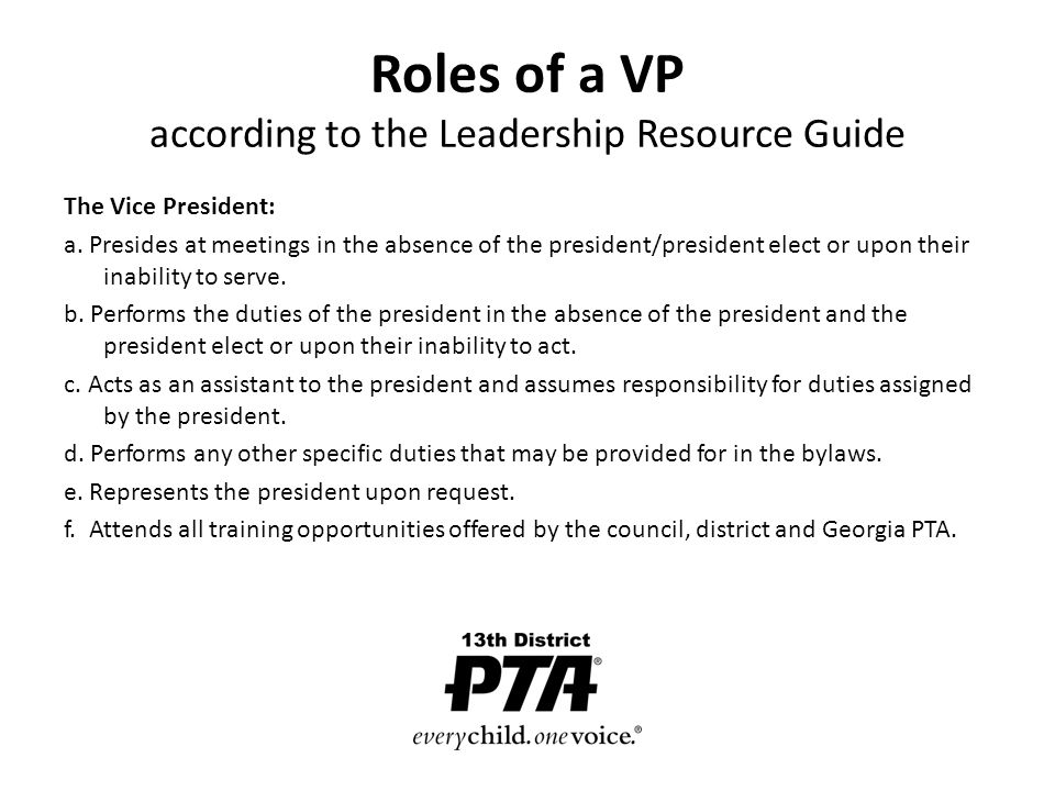 Vice President What Is Your Role Our Goals Today Explore Various