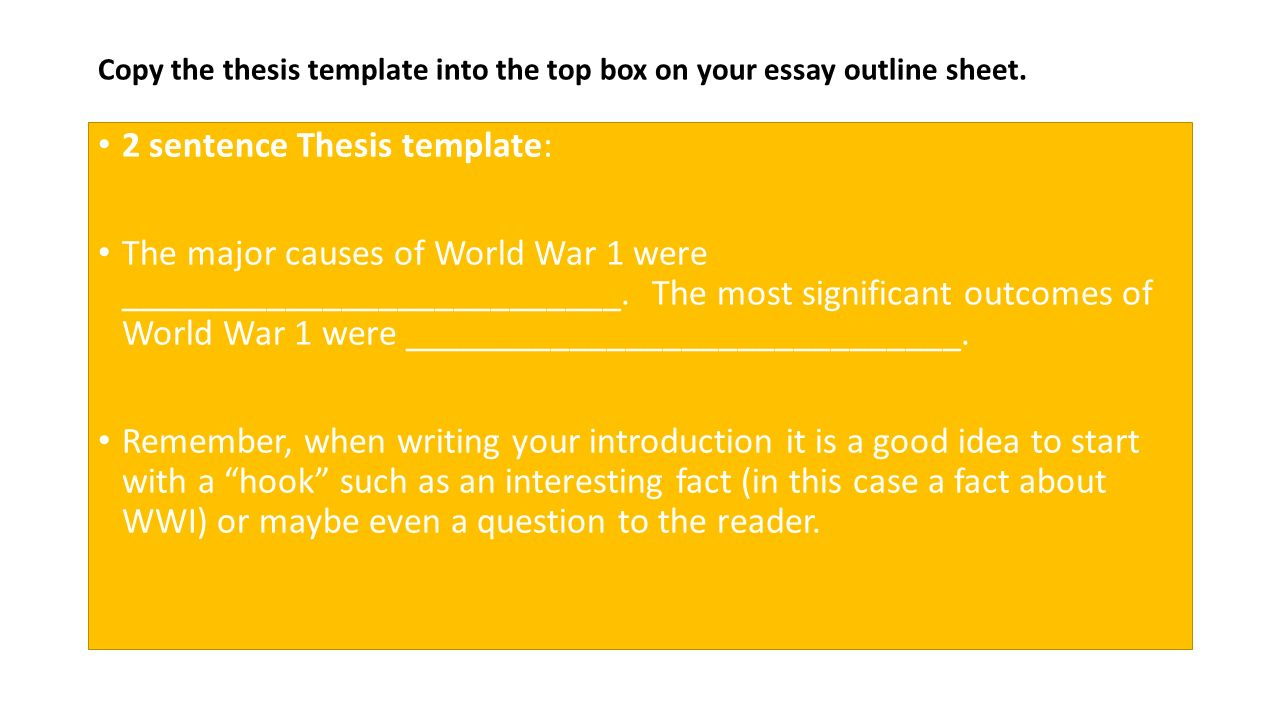 introduction leave space for 2 sentence thesis at end of 2 2