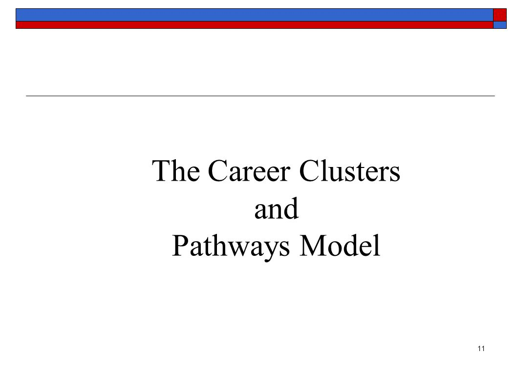 11 The Career Clusters and Pathways Model