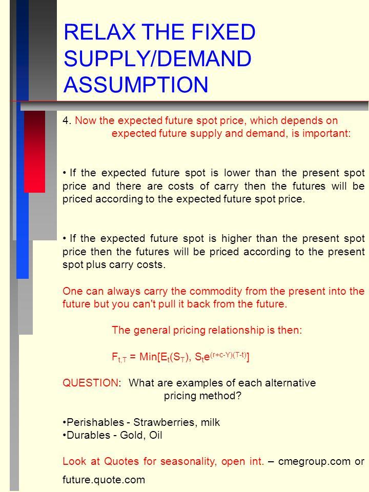 RELAX THE FIXED SUPPLY/DEMAND ASSUMPTION 4.