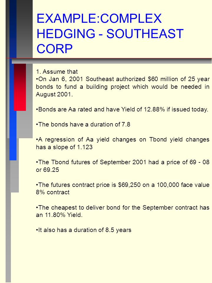 EXAMPLE:COMPLEX HEDGING - SOUTHEAST CORP 1.