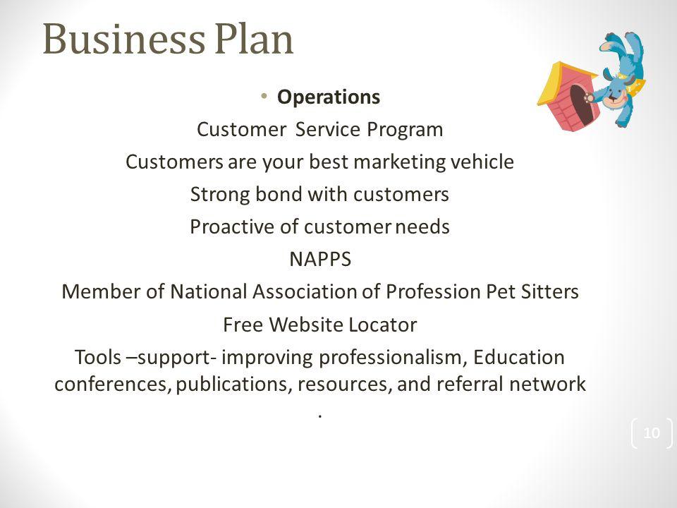Business plan customer care