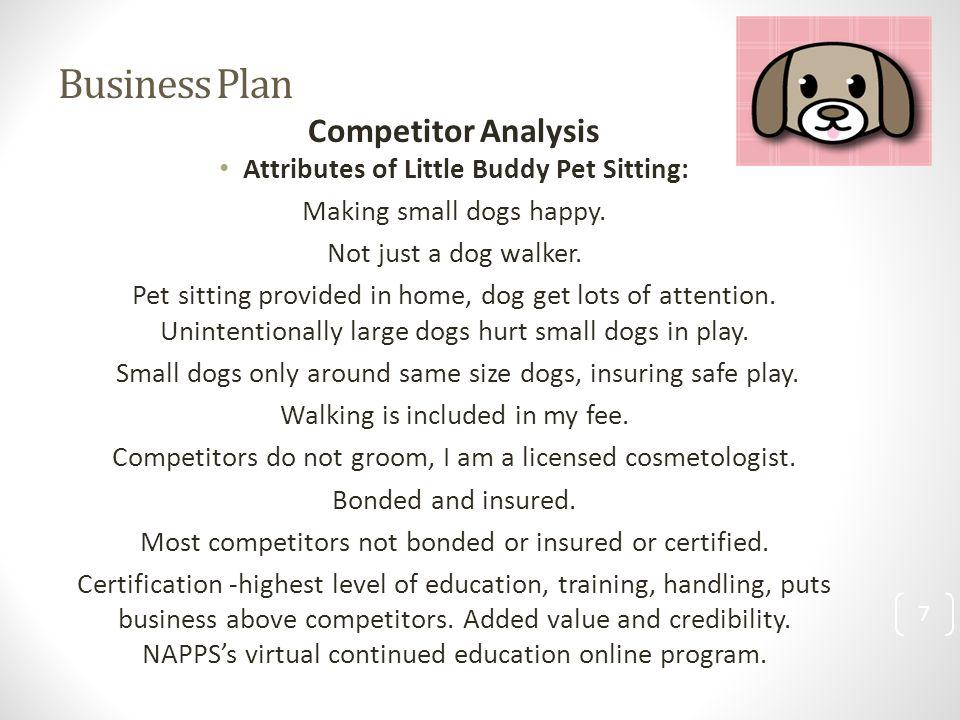 Pet care business plan