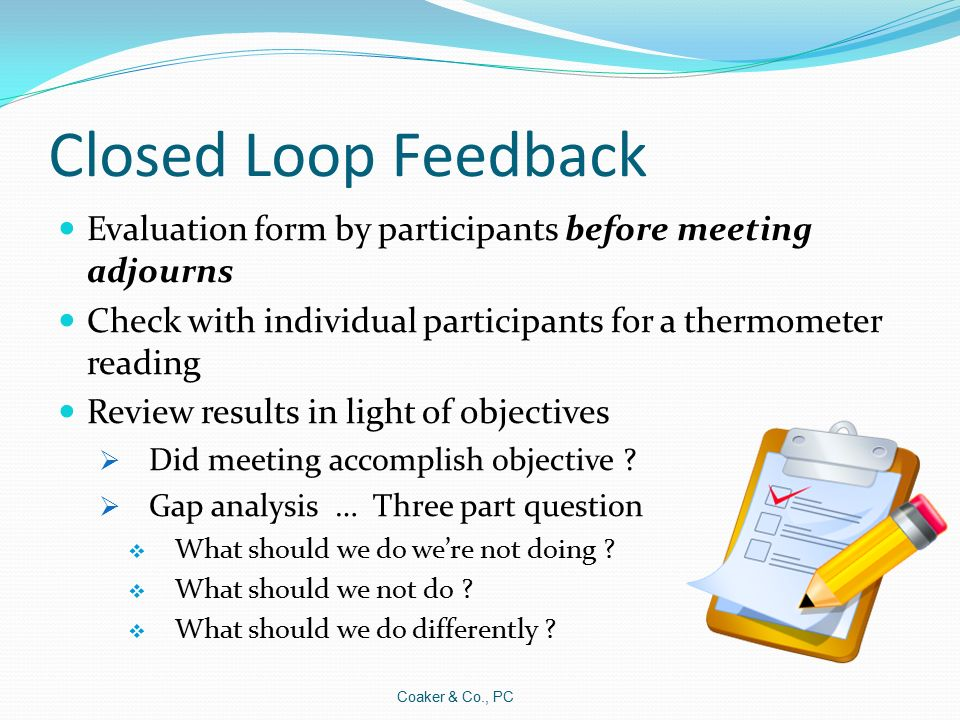 Coaker  Co Pc Effective Meetings Jim Coaker  Ppt Download