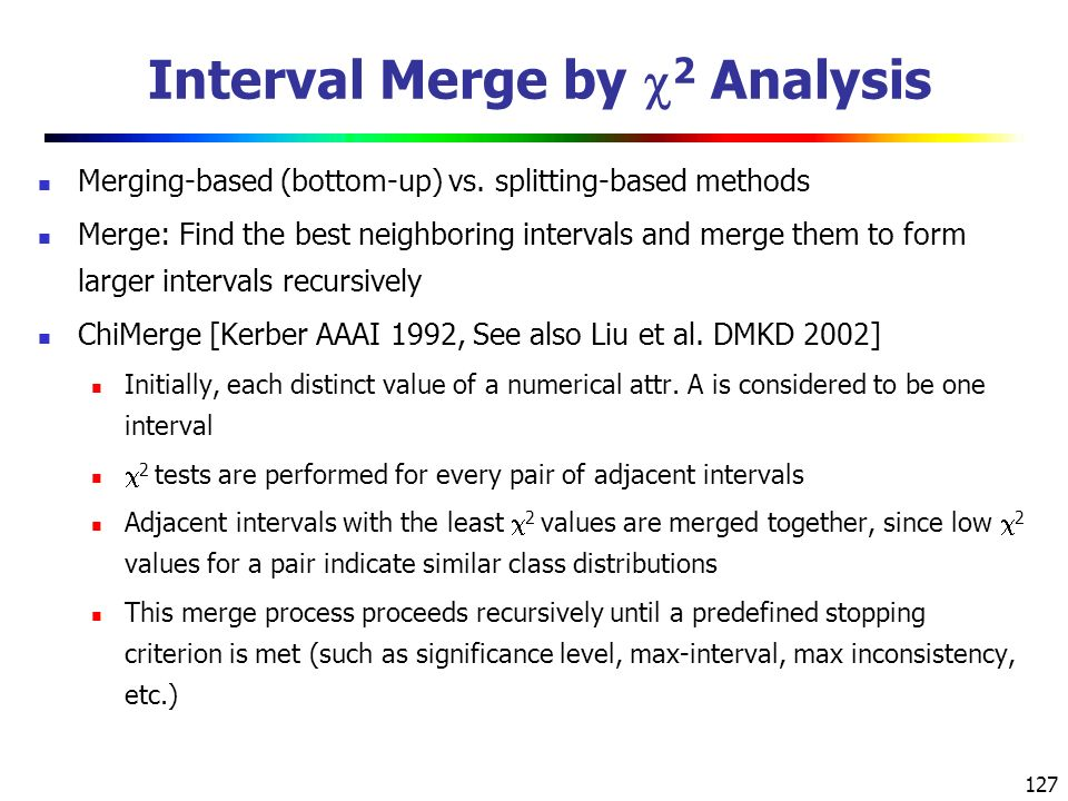 127 Interval Merge by  2 Analysis Merging-based (bottom-up) vs.