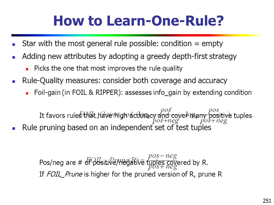 251 How to Learn-One-Rule.