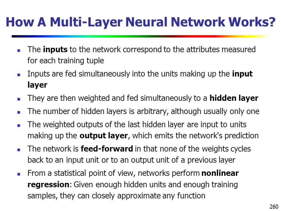 260 How A Multi-Layer Neural Network Works.