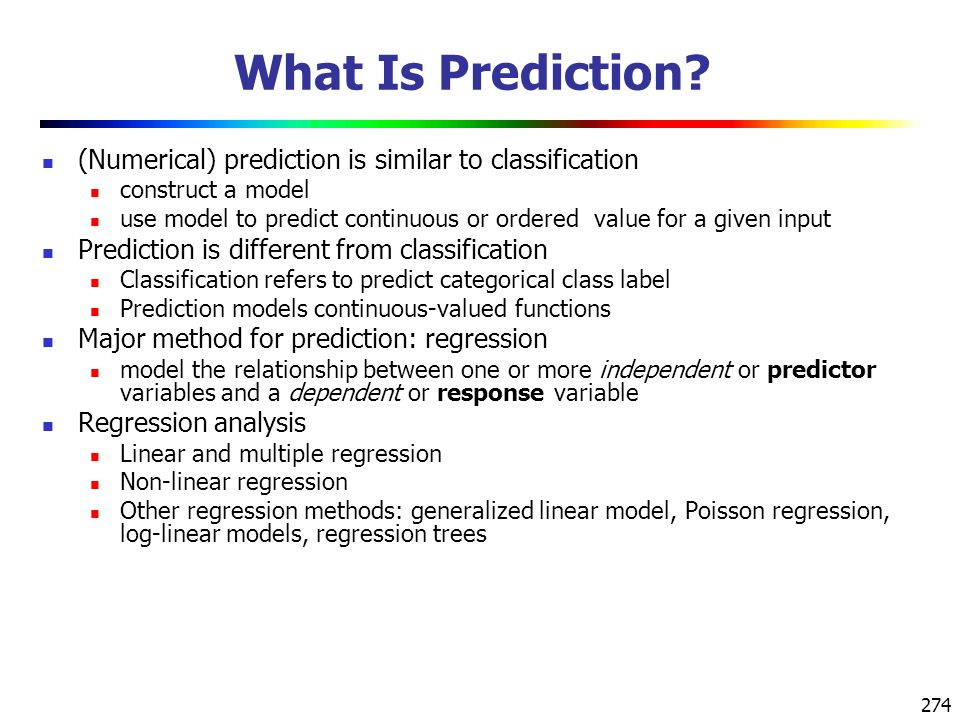 274 What Is Prediction.