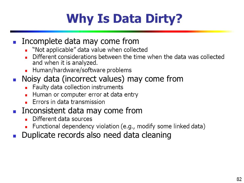 82 Why Is Data Dirty.