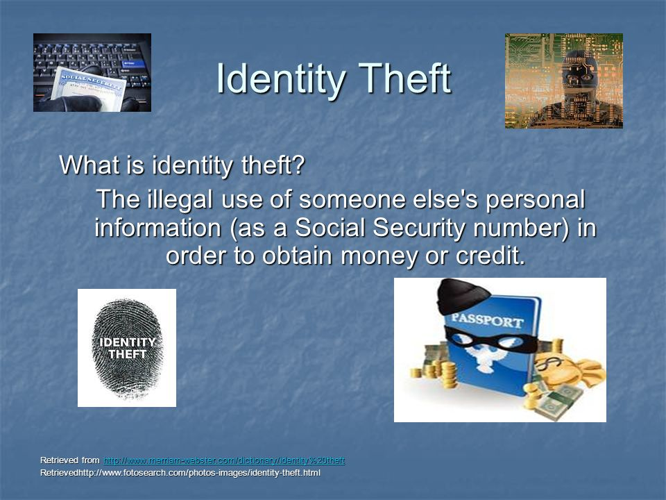 Identity Theft What is identity theft. What is identity theft.