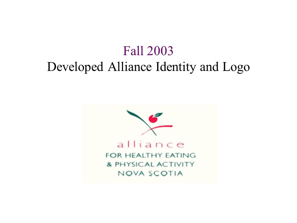 Fall 2003 Developed Alliance Identity and Logo