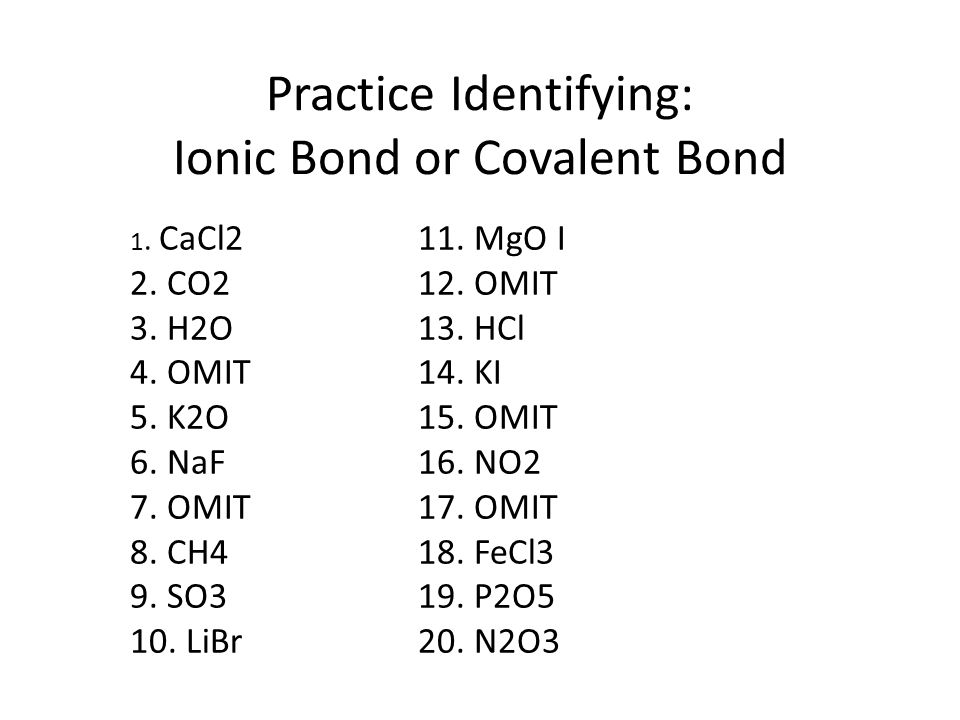 Unit 6 Chemical Bonds SPS1b Compare and contrast ionic bonds in – Covalent Bond Practice Worksheet