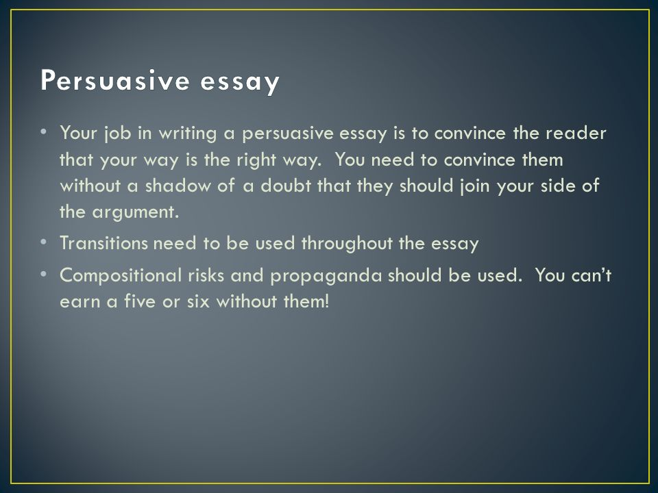 pursusaive essay format Persuasive essay outline 101308 1 p 0 parts of the persuasive essay a persuasive essay is an argument in writing follow these steps to plan and write a very.