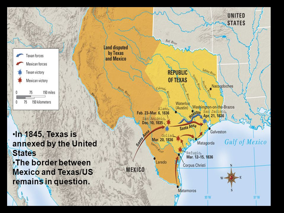 Map Of U S Mexico Texas In 1836 Historical Texas Maps Texana