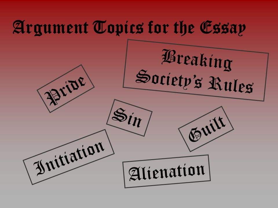 good topics for argument essay