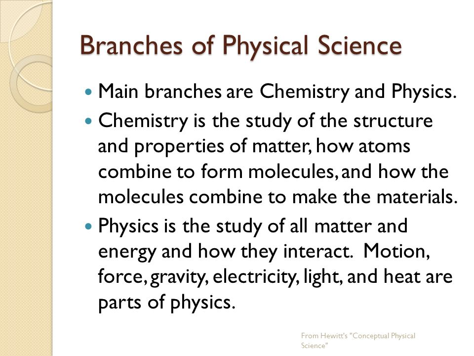 what are the branches of chemistry There are various branches of chemistry the main branches of chemistry are: 1 physical chemistry -----2 organic chemistry 3inorganic chemistry.