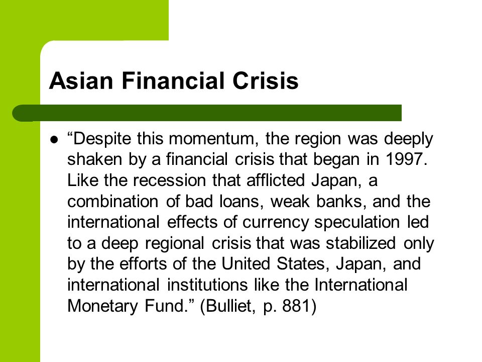 effects of 1997 asian financial crisis