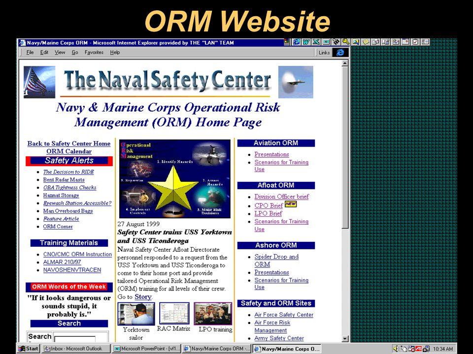 OPERATIONAL RISK MANAGEMENT. OBJECTIVES Establish a common ORM ...
