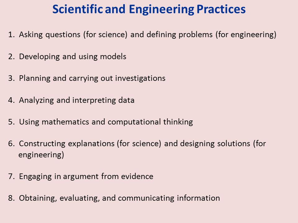 Scientific and Engineering Practices 1.