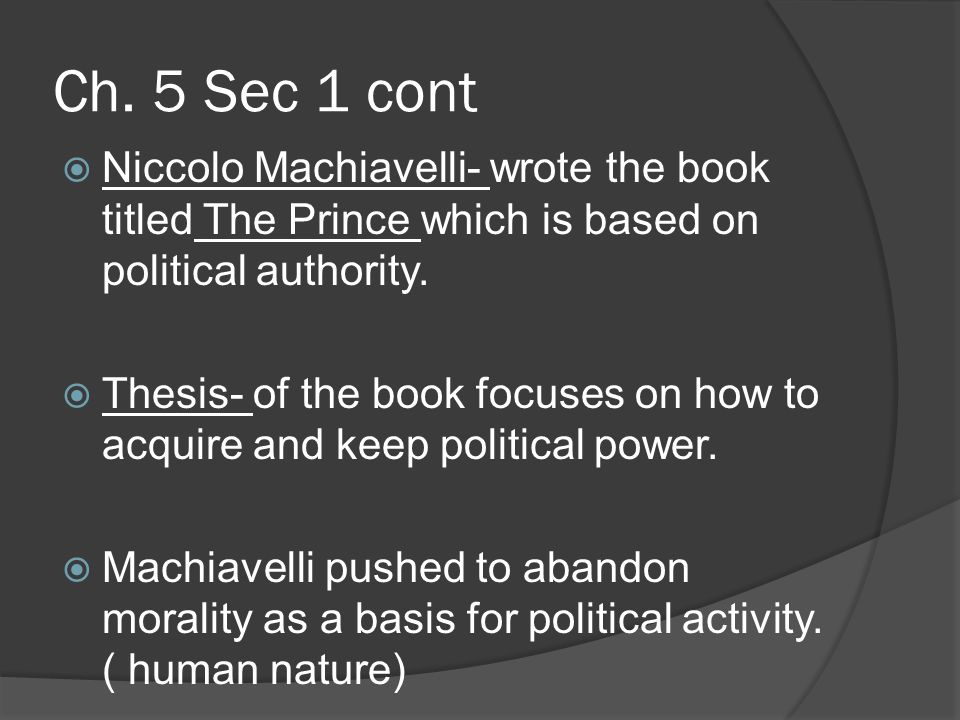 machiavelli the prince conclusion