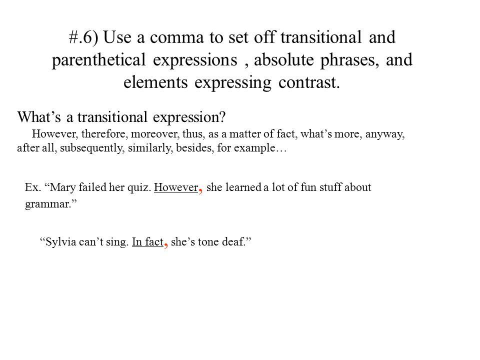 Improving Grammar And Writing Mechanics Punctuation Identifying