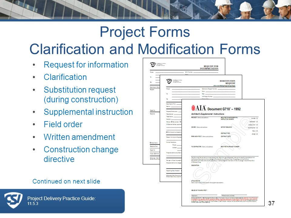 The Construction Specifications Institute Session 4 CONSTRUCTION ...