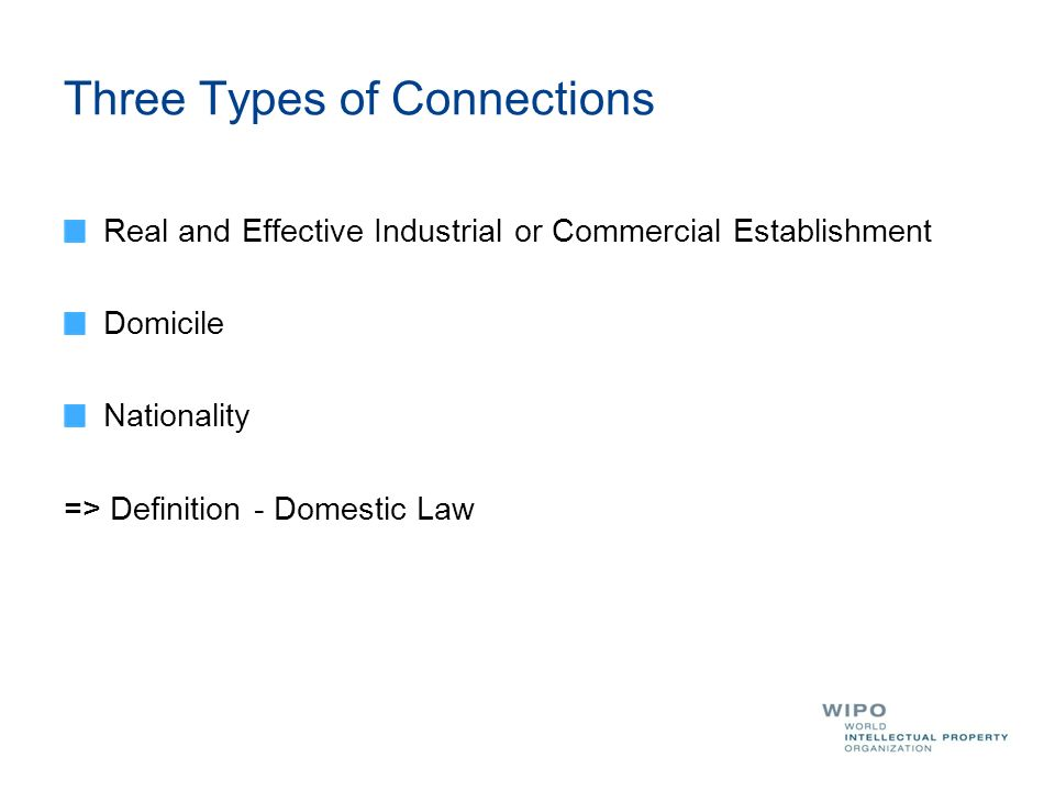 5 Three Types Of Connections Real And Effective Industrial Or Commercial  Establishment Domicile Nationality U003du003e Definition   Domestic Law