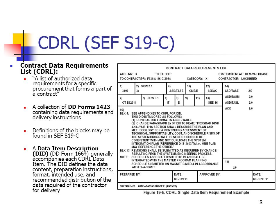 1 Lecture 3.9: RFP, SOW and CDRL (SEF Ch 19) Dr. John MacCarthy ...