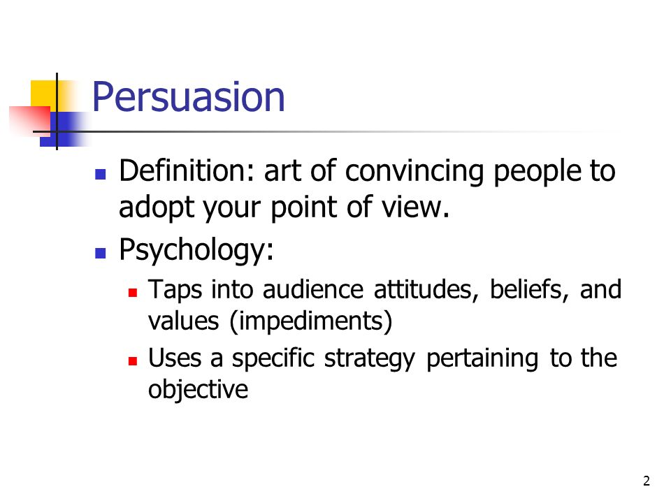 Meaning of persuasive speech