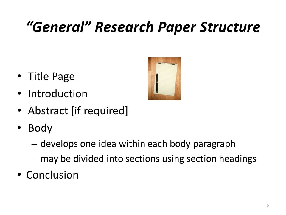 Research Paper Structure?