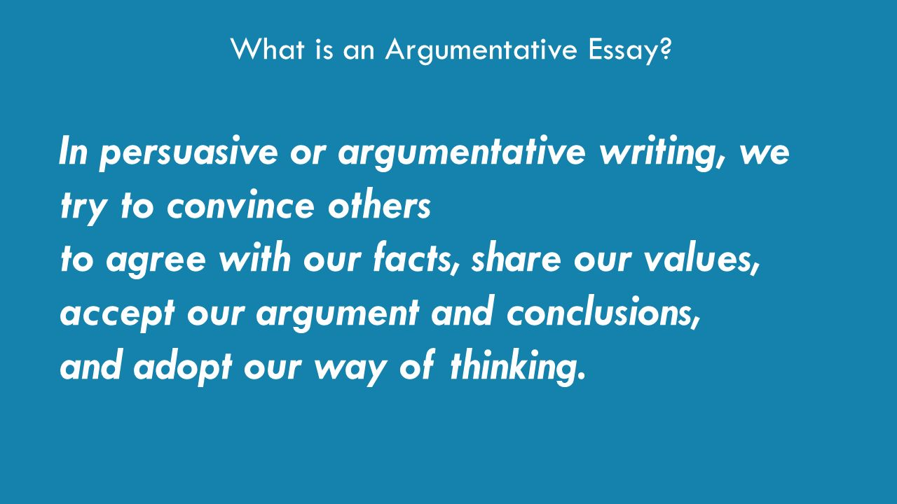 writing a persuasive/argumentative essay Here are the elements of persuasive essays: an introduction you should present a hook here that grabs your audience's attention body paragraphs in 5-paragraph essays, you'll have 3 body paragraphs conclusion your conclusion is where you tie it all together.