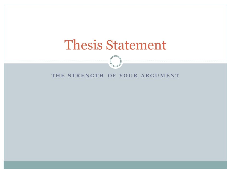 What is a good thesis statement for No Child Left behind?