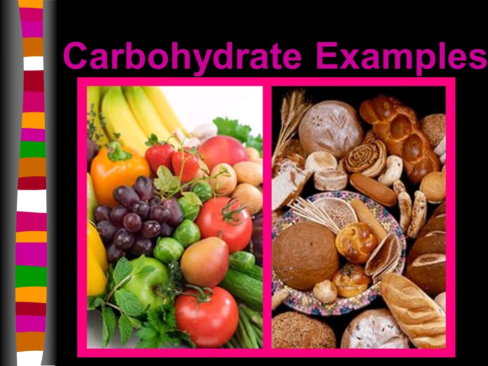 Carbohydrate Examples