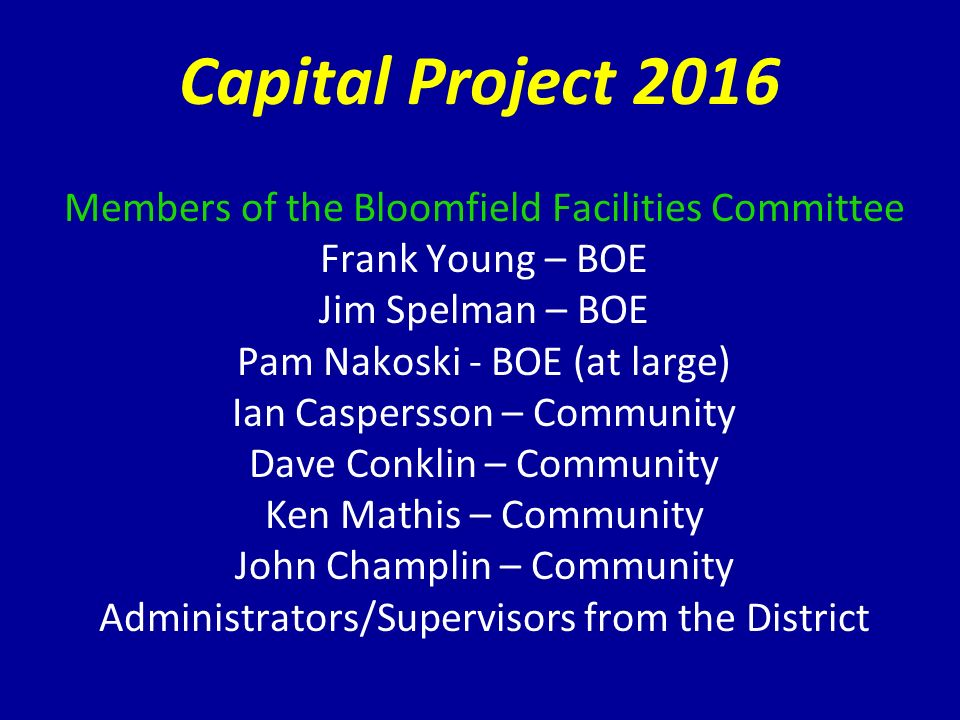 captital project Capital outlay projects bureau assistance and oversight to agencies on the planning, project management and administration of capital project appropriations.