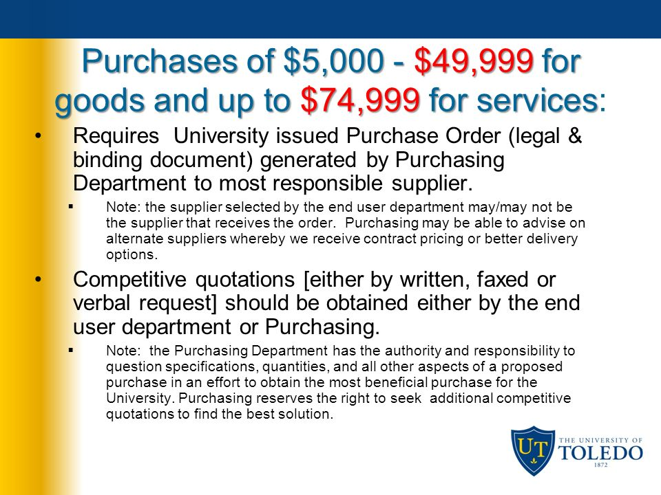 Purchasing Services presents Procurement Guidelines Training ppt – Is a Purchase Order a Legal Document