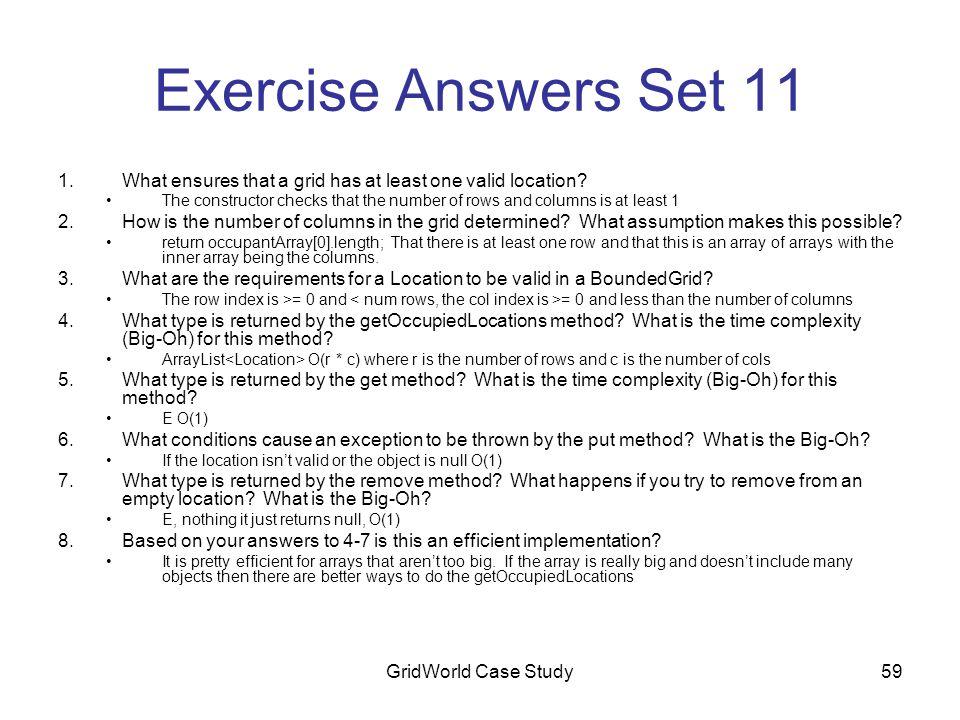 AP Computer Science GridWorld Case Study  GWCS