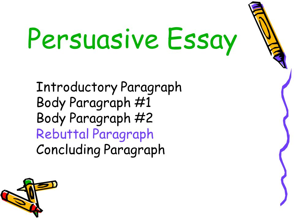 persuasive essay paragraph formation