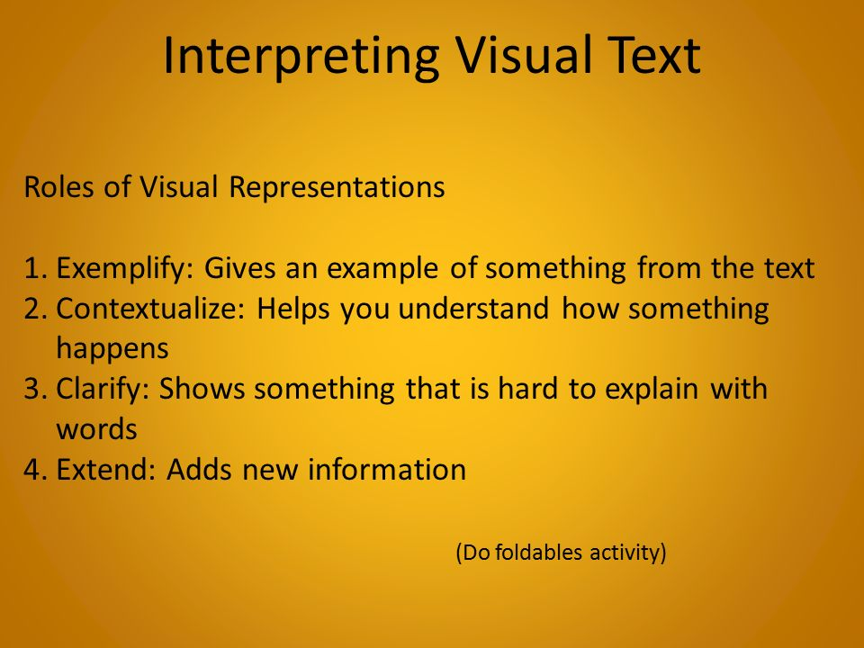 Interpreting Text And Visuals Worksheet - Vintagegrn