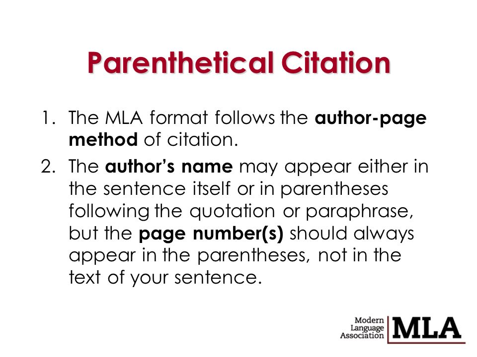 Help With MLA and Parenthetical Documentation?